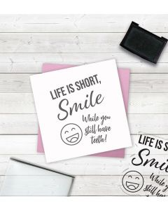 Crafter's Companion Clear Acrylic Stamps - Smile