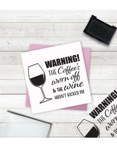 Crafter's Companion Clear Acrylic Stamps - Warning