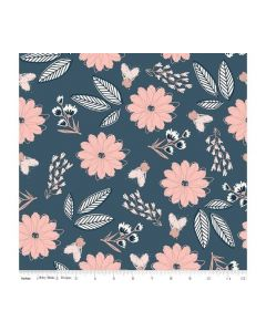 Riley Blake Blush Fabric - RBSC8010 BLUE