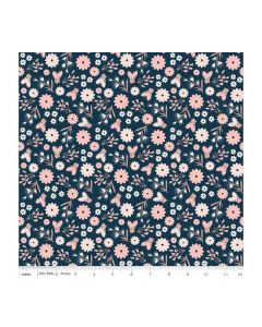 Riley Blake Blush Fabric - RBSC8011 BLUE