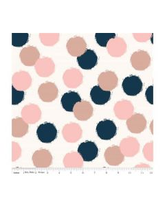 Riley Blake Blush Fabric - RBSC8014 CREAM