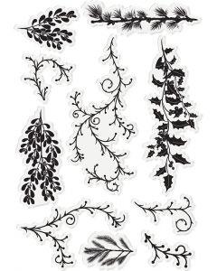 Sara Signature Enchanted Christmas Acrylic Stamp - Forest Foliage