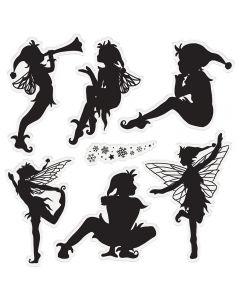 Sara Signature Enchanted Christmas Acrylic Stamp - Magical Pixies