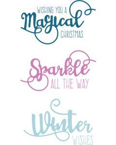 Sara Signature Enchanted Christmas Stamp & Die - Winter Wonderland