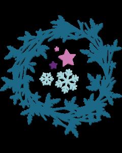 Sara Signature Enchanted Christmas Metal Die - Winter Wreath