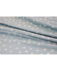 Threaders Cottage Garden Fabric - Rose Blossom (Blue)