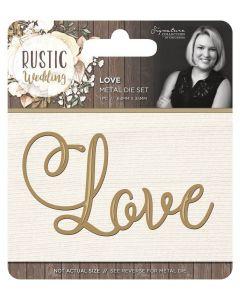 Sara Signature Rustic Wedding Metal Die - Love