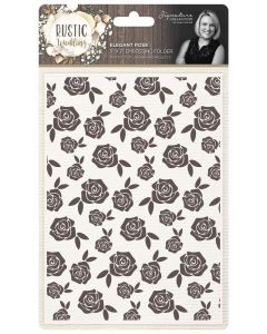 "Sara Signature Rustic Wedding 5""x7"" Embossing Folder - Elegant Rose"