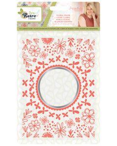 Sara Signature Sew Retro Cut and Emboss Folder - Floral Frame