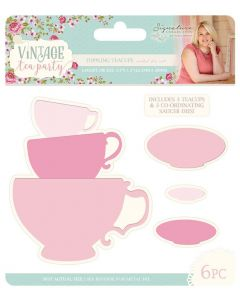 Sara Signature Vintage Tea Party Collection Metal Die - Toppling Teacups