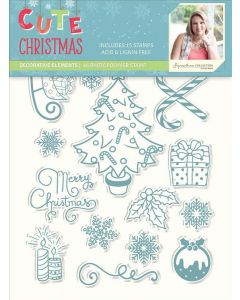 Sara Signature Cute Christmas Collection Photopolymer Stamp - Decorative Elements
