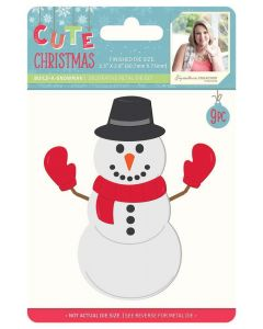 Sara Signature Cute Christmas Collection Metal Die - Build-a-Snowman