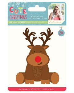 Sara Signature Cute Christmas Collection Metal Die - Red Nose Reindeer