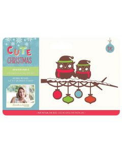 Sara Signature Cute Christmas Collection Metal Die - Winter Owls