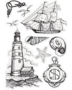 Sara Signature Nautical Acrylic Stamp - Sara Signature Nautical Elements