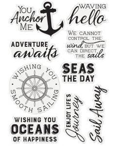 Sara Signature Nautical Acrylic Stamp - Seas the Day