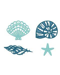 Sara Signature Nautical Metal Die - Fancy Shells