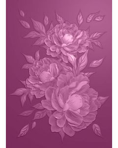 Sara Signature Parisian 3D Embossing Folder - Peony Trio