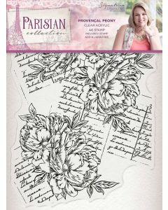Sara Signature Parisian Acrylic Stamp - Provençal Peony
