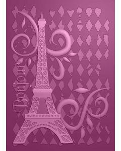 Sara Signature Parisian 3D Embossing Folder - Bonjour Paris