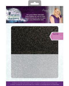 Sara Signature Enchanted Christmas Luxury Glitter Card (2pk)