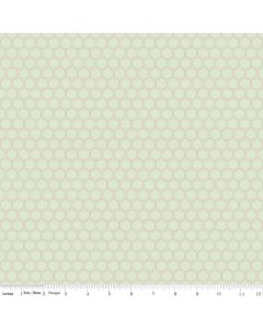 Riley Blake Bliss Fabric - Honeycomb Mint