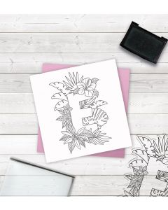 Crafter's Companion Clear Acrylic Stamp - Letter E