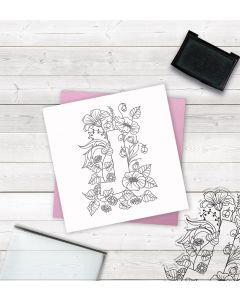 Crafter's Companion Clear Acrylic Stamp - Letter J