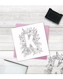 Crafter's Companion Clear Acrylic Stamp - Letter K