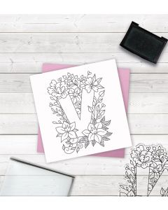 Crafter's Companion Clear Acrylic Stamp - Letter V