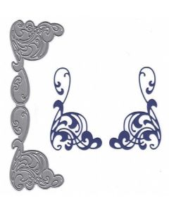 Joanna Sheen Signature Dies - Art Nouveau Mirrored Pair