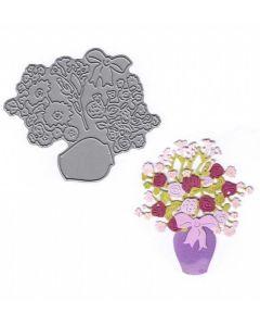 Joanna Sheen Signature Dies - Vase of Flowers