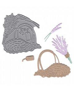 Joanna Sheen Signature Dies - Lavender Basket