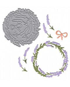 Joanna Sheen Signature Dies - Lavender Wreath