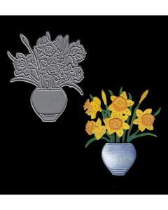 Joanna Sheen Signature Dies - Vase of Daffodils