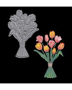 Joanna Sheen Signature Dies - Bunch of Tulips