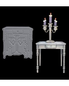 Joanna Sheen Signature Dies - Side Table with Candles