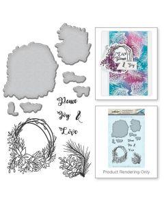 Spellbinders Stamp and Die Template Set - Wreath