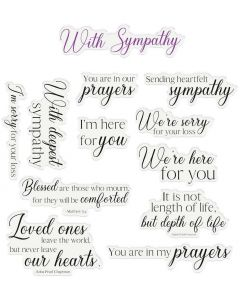 Crafter's Companion Sentiment and Verses Clear Stamps - Sympathy