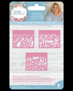 Sara Signature Sew Homemade Metal Dies - Cut-In Sentiments