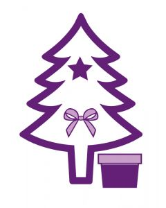 Gemini Shaker Card Stamp and Die - Christmas Tree