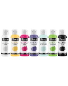Sheena Douglass Matt Acrylic Paint (59ml) 7PC Box - Set 1