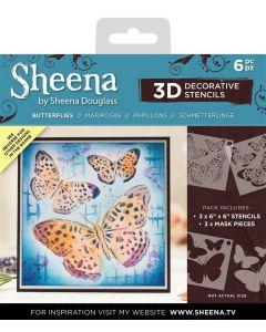 Sheena Douglass 3D Stencils - Butterflies