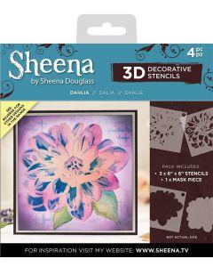 Sheena Douglass 3D Stencils - Dahlia