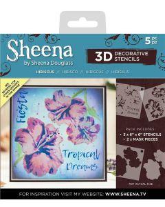 Sheena Douglass 3D Stencils - Hibiscus