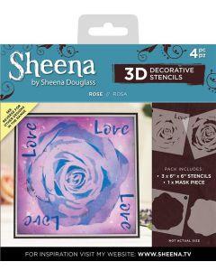 Sheena Douglass 3D Stencils - Rose