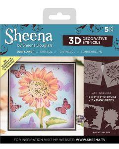 Sheena Douglass 3D Stencils - Sunflower