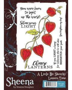 Sheena Douglass A Little Bit Sketchy A6 Rubber Stamp Set - Lantern Time