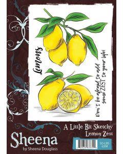 Sheena Douglass A Little Bit Sketchy A6 Rubber Stamp Set - Lemon Zest