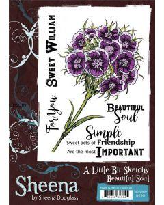Sheena Douglass A Little Bit Sketchy A6 Stamp Set - Beautiful Soul